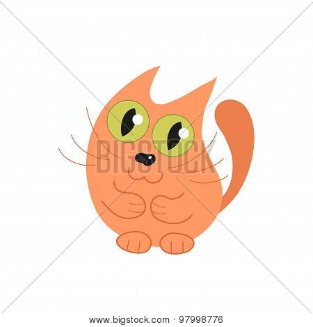 Cute cat, vector illustration