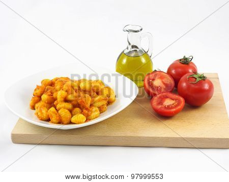 Italian food. Potato dumplings
