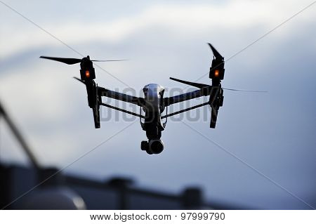 Filming Drone Silhouette