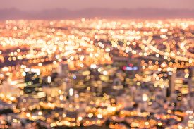 picture of roof-light  - Bokeh of Cape Town skyline from Signal Hill after sunset during the blue hour - South Africa modern city with spectacular nightscape panorama - Warm blurred defocused night lights ** Note: Visible grain at 100%, best at smaller sizes - JPG