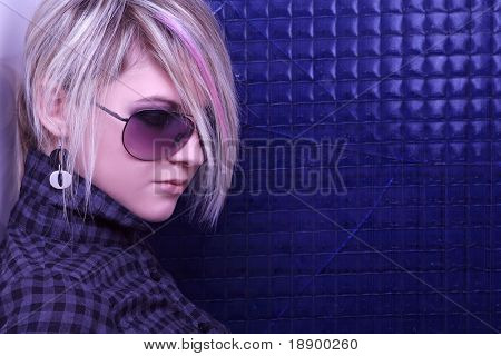 portrait of young emo girl