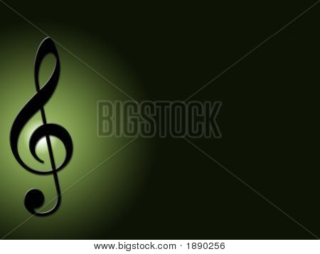 Treble Clef Green