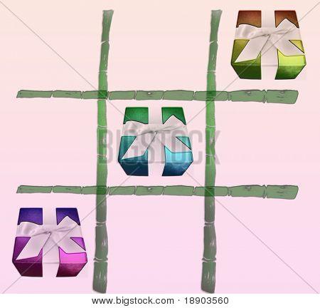Bamboo made Tic tac toe