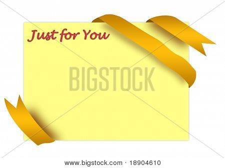 Golden corner ribbon with just for you sign