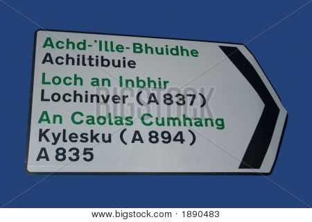 Bilingual Road Sign