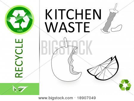 Please recycle kitchen waste