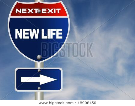 New life road sign