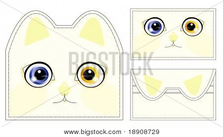 Abstract cat wallet