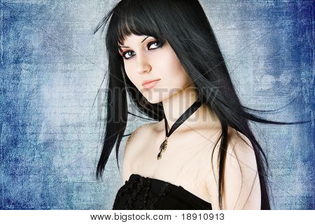 Gothic portrait of a young girl