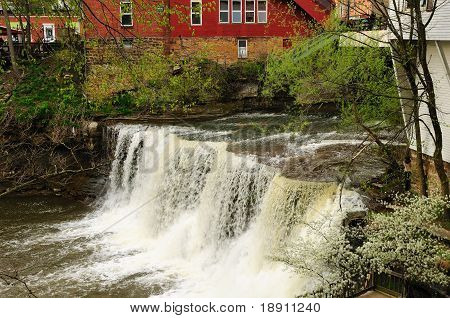 Chagrin Falls In Spring