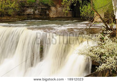 Springtime Waterfall