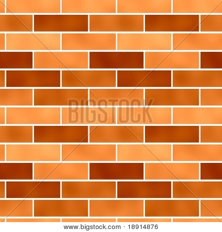 seamless tileable, new, clean brick wall background