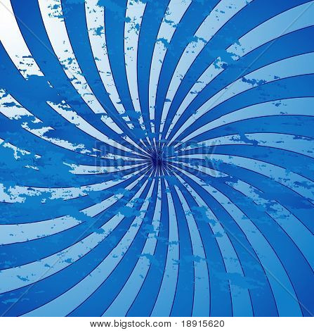 swirly blue grunge retro style sunburst