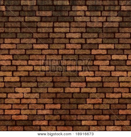 old dark brick wall, will tile seamlessly as a pattern