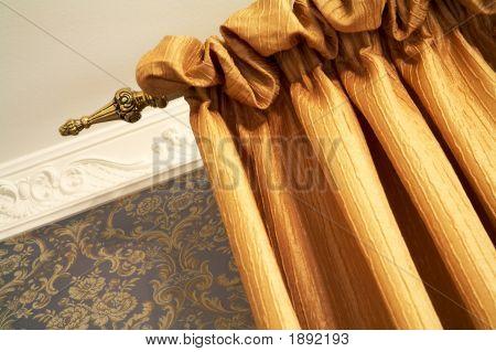 Beautiful Orange Curtain