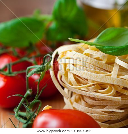 Close up of italian pasta