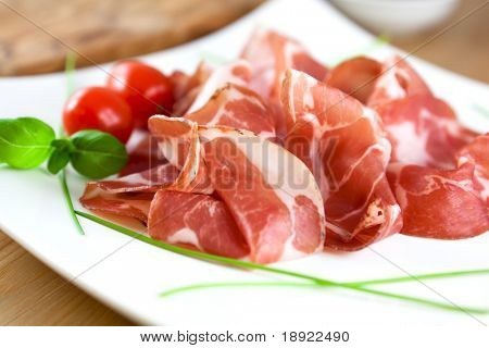 Close up of coppa