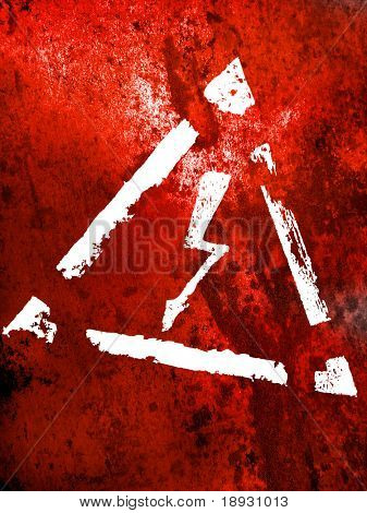 grunge background with high energy sign