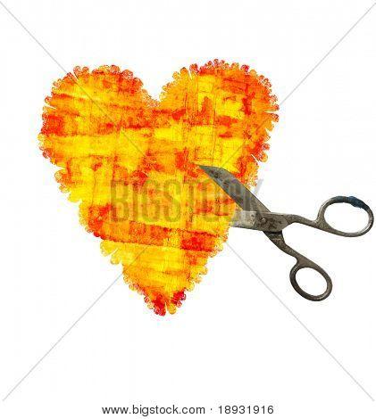 Heart & scissors