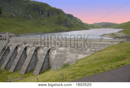 Dam At Sunset