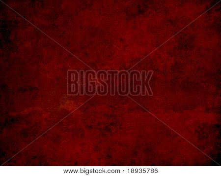 Red grunge wall surface, background