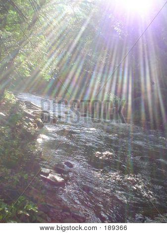 Sonnenschein am Fluss