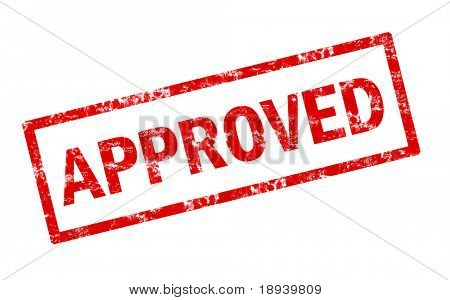 Grunge stamp of approved