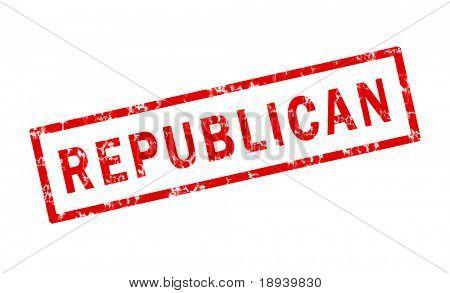 Republican grunge stamp