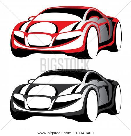 Sign For Auto Business. Vector. Computer Graphics. 2D Design