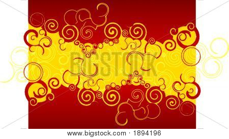 Red And Gold Twirls.Eps