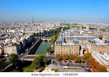 Paris - Eiffel tower, Seine....