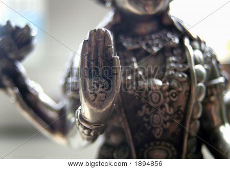 Hand On Shiva Statue