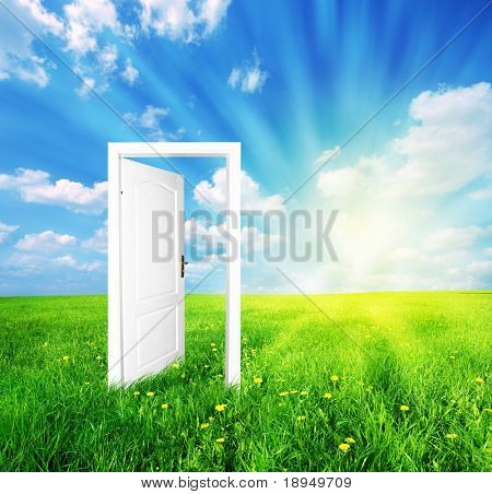 Door to new world. See also different versions of this great concept!