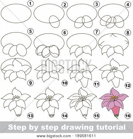 Постер, плакат: Drawing Tutorial For Preschool Children , холст на подрамнике