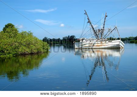Sinking Oyster Ship