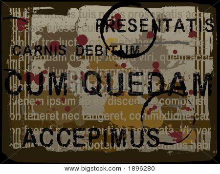 Latin Text Grunge Background 4