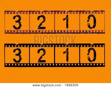 Transparent Film Strips With Countdown
