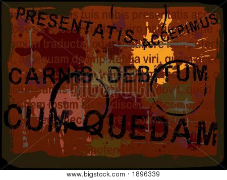 Latin Text Grunge Background 4