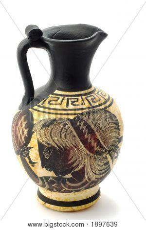 Greek Vase With Mars Painting