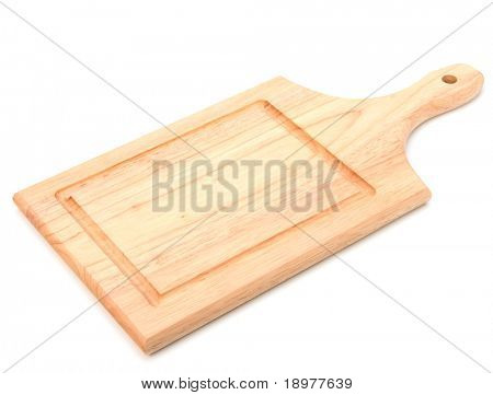empty breadboard isolated on white background