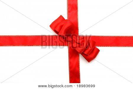 roter Schleife und red Bow auf weißem Hintergrund