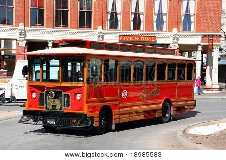 Un autobús de transporte público en San Antonio, Texas.
