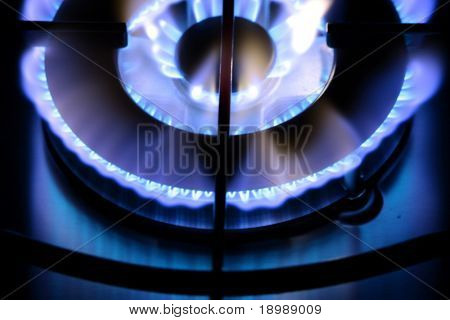 Triple gas burner