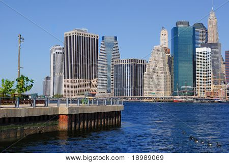 The East River Skyline of New York City