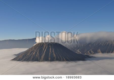 Volcano Bromo at sunrise. East Java, Indonesia.