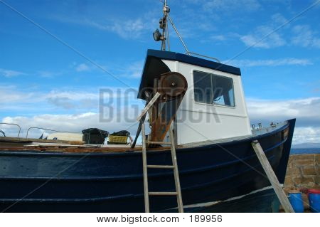 Fishing Boat In Dry Dock