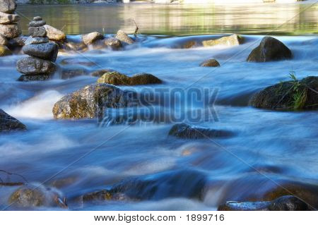 Little River With Many Stones