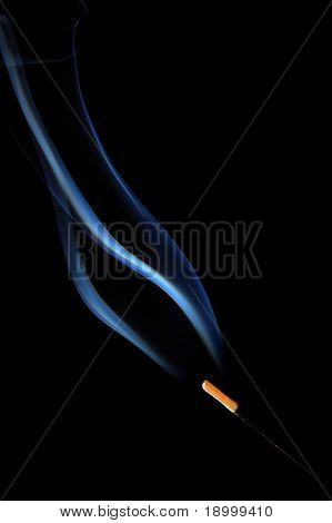 Fragrance stick burning smoke