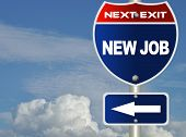picture of road sign  - New job road sign - JPG