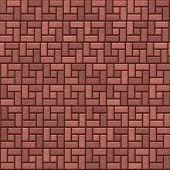brick stone pavement, tiles seamless as a pattern in all directions
